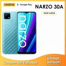 Movil chino Realme Narzo 30A versión Global 4GB 64GB Helio G85 pantalla 6,5 pulgadas 13MP Bateria 6000mAh
