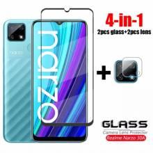 4 en 1 Unidades de protector de pantalla vidrio templado de alta calidad para movil chino Realme Narzo 30A