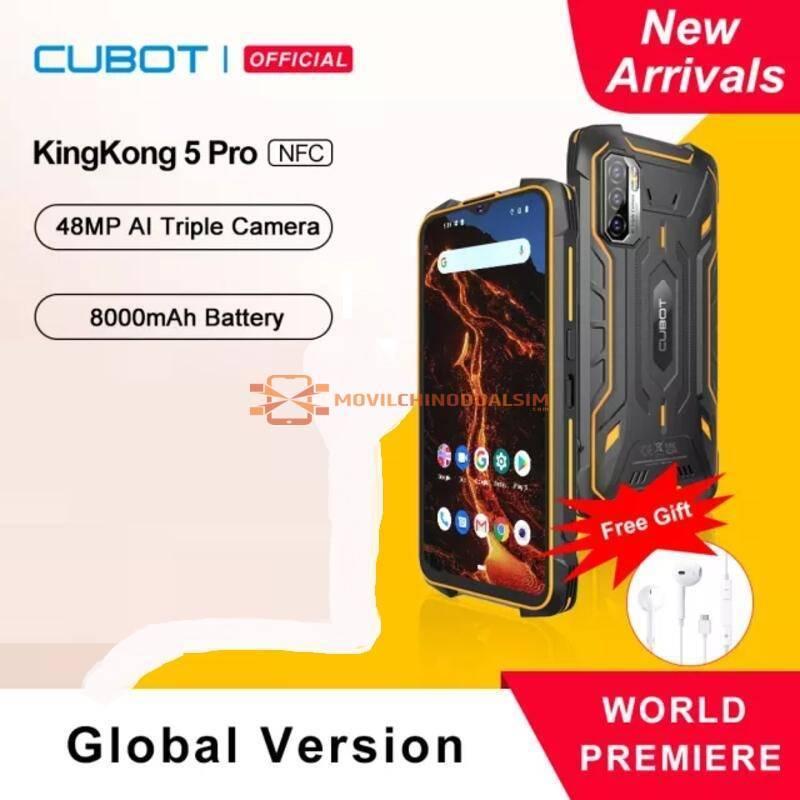 Movil chino Cubot KingKong 5 Pro Android 11 IP68/IP69K Impermeable Rugged Todorerreno bateria 8000mAh NFC 48MP