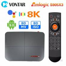 Tv box AX95 4GB 128GB TV inteligente con Android 9,0 Amlogic S905X3 4K 8K Dolby BD MV BD ISO Dual Wifi