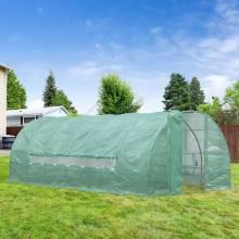 Invernadero de jardín y huerto, con 6 ventanas para plantar plantas y hortalizas, cubierta de PE 140g / ㎡6x3x2m