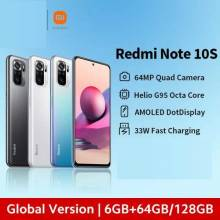 "Movil chino Xiaomi Redmi Note 10S Versión Global 64MP Quad Cámara Helio G95 6,43 ""AMOLED DotDisplay bateria 5000mAh"