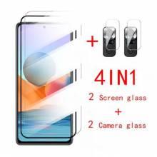 4 en 1 Unidades de protector de pantalla vidrio templado de alta calidad para movil chino Xiaomi Redmi Note 10S