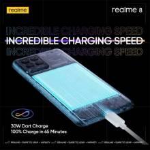 "Movil chino Realme 8 Helio G95 pantalla 6,44 "" AMOLED bateria de 5000mAh 30W de carga"
