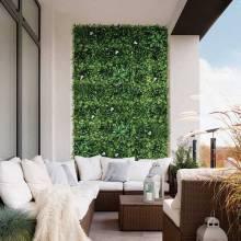 Jardin vertical Forest 100x100 toques tropicales y flores blancas