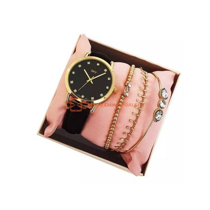 Conjunto reloj y pulseras para mujer regalos dia de la madre