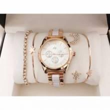 Pack de reloj clasico para mujer con conjunto de pulseras en diferentes modelos