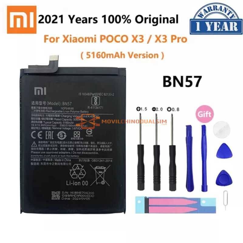 Bateria original de 5160 mAh para movil chino Poco X3 y Poco X3 Pro