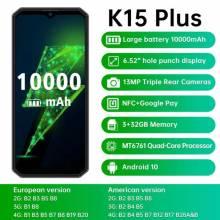 Movil chino OUKITEL K15 Plus, bateria 10000mAh, NFC, pantalla 6,52 pulgadas, 3GB de RAM, 32GB de ROM