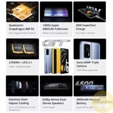 """Movil chino Realme GT 5G, Versión Global, 8GB+128GB, Snapdragon 888, pantalla 6,43"""" Batería de 4500 mAh"""