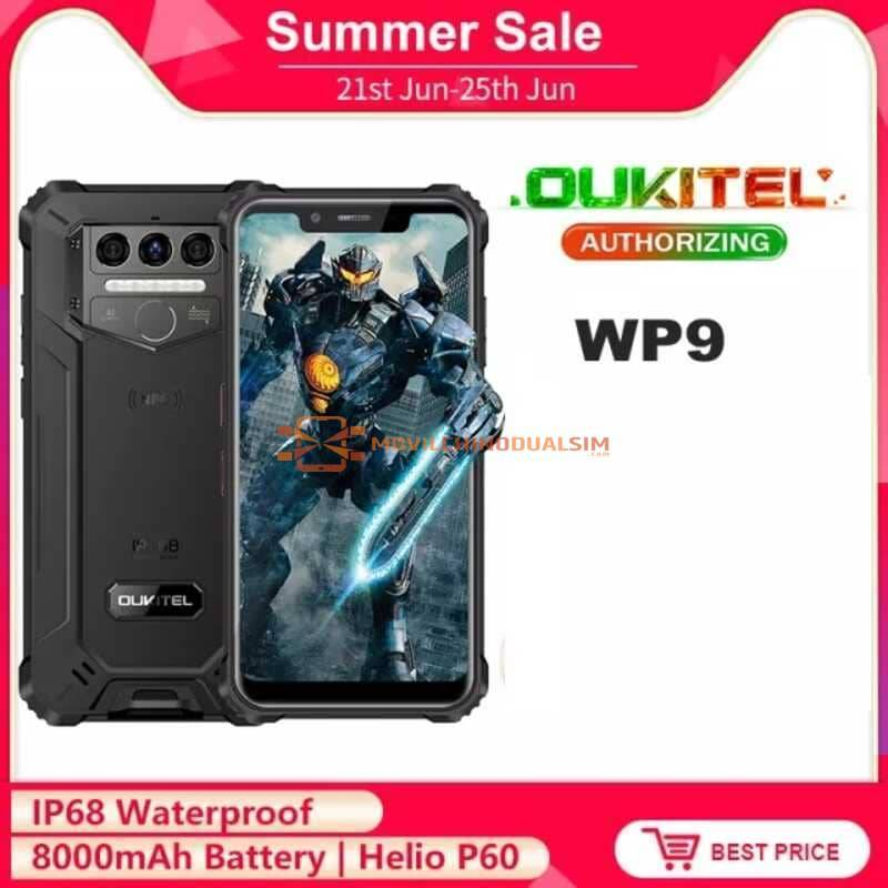 """Movil chino Oukitel WP9 resistente 4G LTE NFC 6G + 128G pantalla 5,86"""" HD bateria 8000mAh Android 10"""