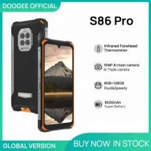 Movil chino DOOGEE S86 Pro resistente 8GB + 128GB, termómetro infrarrojo, HelioP60 Octa Core