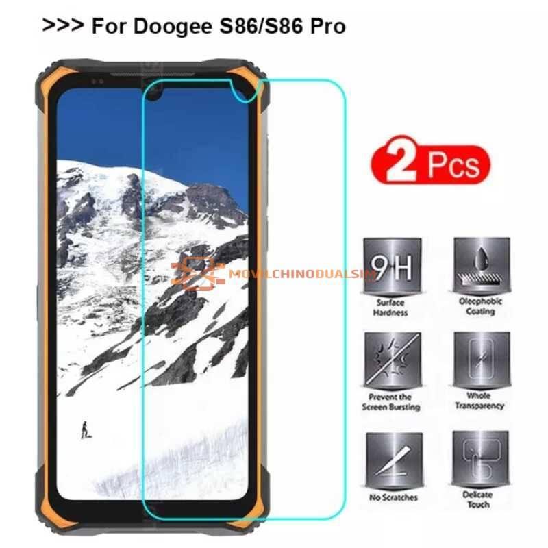 2 Unidades de protector de pantalla vidrio templado de alta calidad para movil chino Doogee S86 Pro o Doogee S86