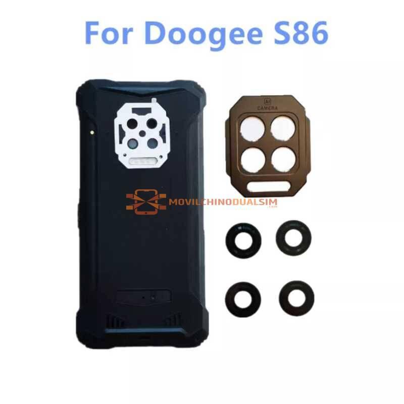Tapa trasera original de batería + cristal + marco para movil chino DOOGEE S86