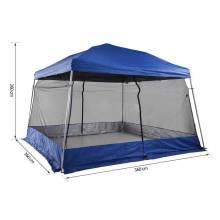 Carpa exterior plegable para jardín o camping 360x360x260cm pabellón exterior con mosquitera