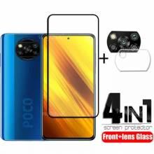4 en 1 unidades de protector de pantalla vidrio templado de alta calidad para movil chino Poco M3