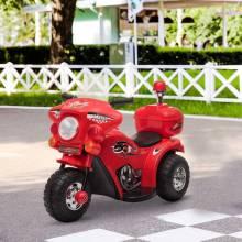 Moto eléctrica infantil con 3 ruedas y batería 6V función musical 80x35x52 cm rojo
