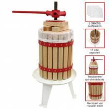 Prensa Exprimidor de frutas manual de madera y acero para 18L