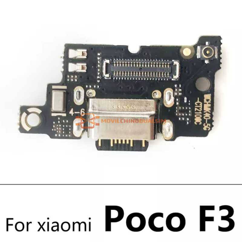 Repuesto placa USB cargador de enchufe para movil chino Xiaomi Poco F3