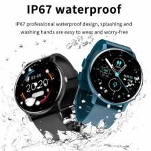 Reloj inteligente resistente al agua IP67 con pantalla completamente táctil, Bluetooth y caja, para Android e Ios