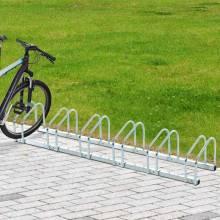 Estacionamiento para 6 bicicletas con apoyo para bicicletas en el piso y en la pared Garaje de almacenamiento de acero