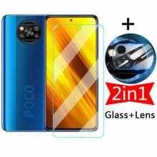 2 Unidades de protector de pantalla vidrio templado de alta calidad para movil chino Xiaomi Poco M3 Pro