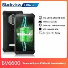 "Movil chino Blackview BV6600 IP68 batería 8580mAh impermeable resistente 4GB + 64GB Pantalla 5,7 "" 16MP Cámara NFC Android 10"