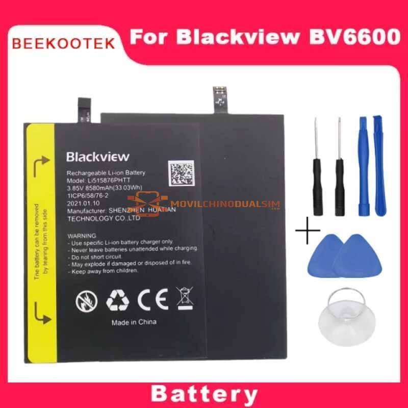 Bateria original de 8580mAh para movil chino Blackview BV6600