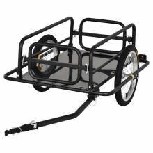 Remolque de bicicleta 50 kg de equipaje de carga marco de acero ligero de carga con reflector