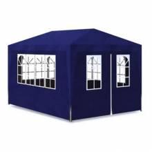 Carpa plegable para eventos profesional con 4 paredes acero azul 3x4m