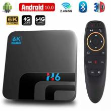 Tv box HONGTOP decodificador con Android 10, 4GB, 64GB, 32GB, 6K, vídeo 3D, H.265, Wifi 2,4G, 5GHz, Bluetooth,