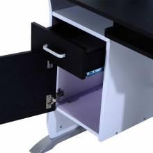 Escritorio para ordenador escritorio para ordenador con armario hogar 100x52x75cm negro y plateado