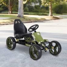 Kart de pedales con freno de embrague regulable como máximo en el asiento. 35 kg 105x54x61 cm verde