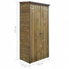 Caseta para herramientas de jardín en pino 85x48x177 cm