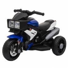 Moto triciclo infantil 3 años infantil batería 6V con luz y música amplia velocidad 3km / h 86x42x52 cm azul y negro